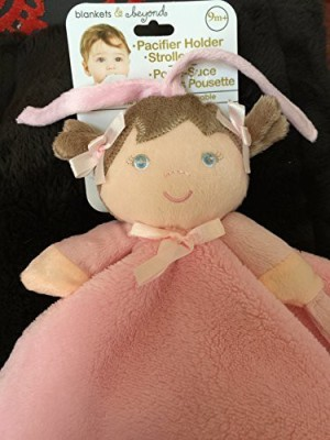 Blankets and Beyond Nunu Little Girl Plush Pink Ultra Soft Security Blankie