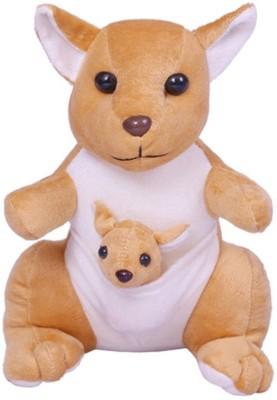 Vpra Mart Brown kangaroo With Baby Stuffed Animal  - 30