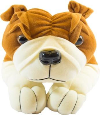 piku creations Sweet Bull Dog Lying  - 28 cm