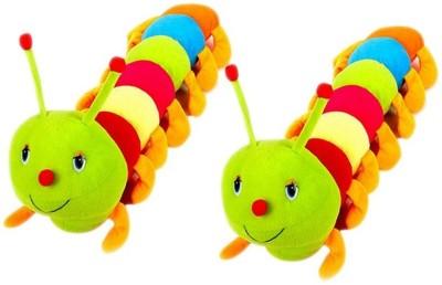 VRV Multicolor Catterpiller toy 25cm Set Of 2  - 12 cm