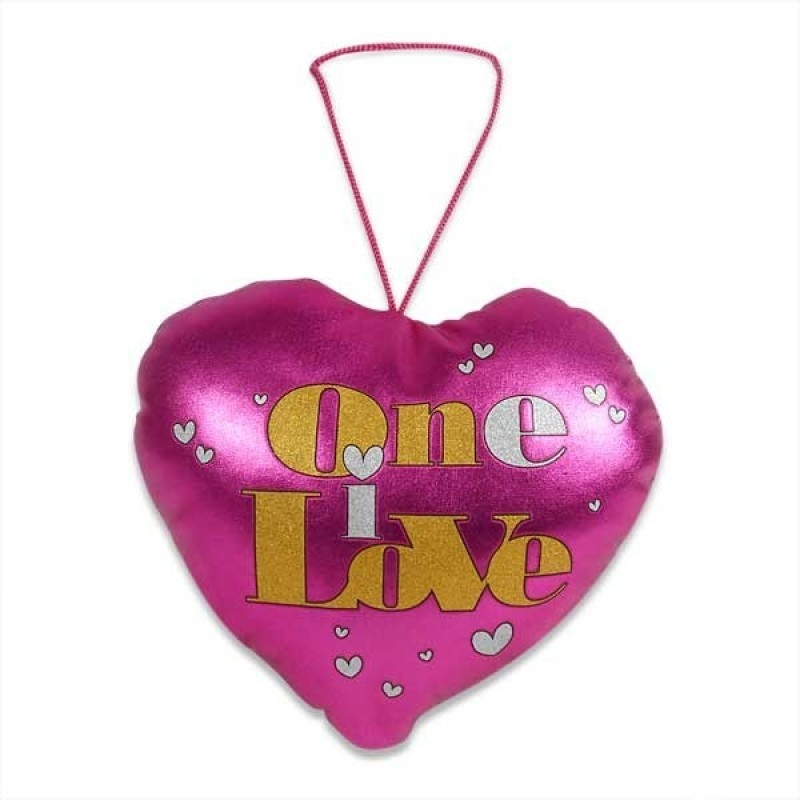 Archies Soft Hangable Love Heart A Beautiful & Lovely Gift For Your Valentine  - 6 inch(Pink)