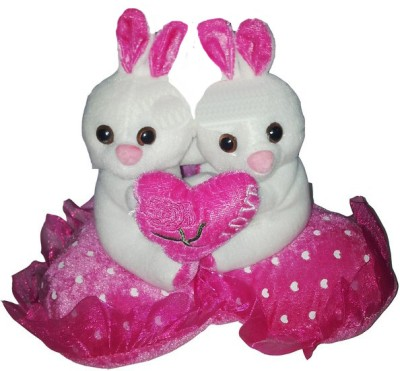GRJ India Rabbit Couple With Love Heart  - 5 Inch