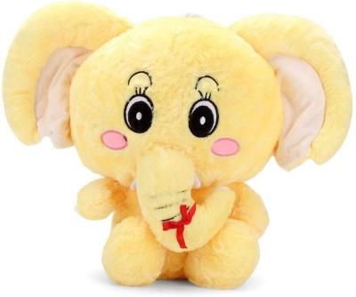 PIST Soft Toys Stuffed Animal Siting Elephant  - 35 cm(Yellow)