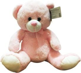 Starwalk Bear Plush Pink Colour with Ribbon - 25 cm(Pink)