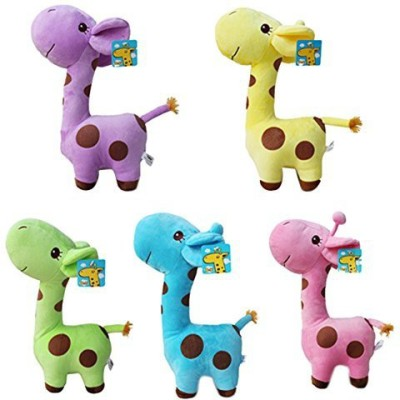 Broadfashion 1X Cute Giraffe Soft Plush Animal Dolls Ba Kid Birthday