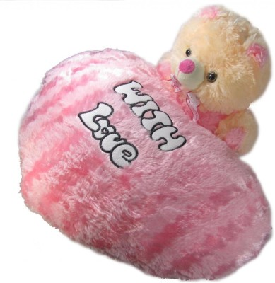 Tickles Love Heart with Teddy  - 17 inch(Pink)