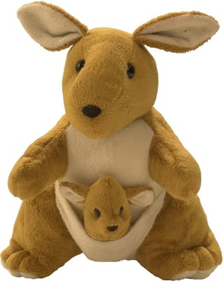 Kuddles Mother & Baby Kangaroo Soft Toy  - 12 inch