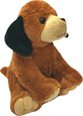 Soft Buddies Animal with Bell - Dark Dog  - 9 inch