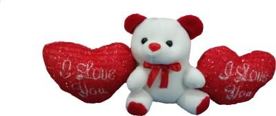 Ekku Love Teddy with 2 Hearts Key Chain  - 4 inch