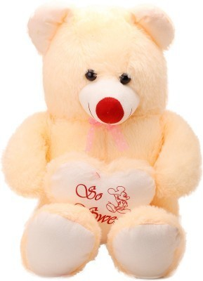 Radhe Radhe Teddy With a Heart  - 33 inch