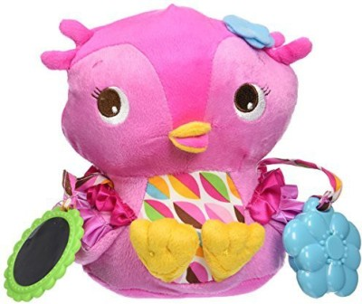 Bright Starts Pretty In Pink Plush Toy, Hootie Cutie  - 25 inch
