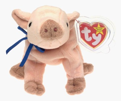Beanie Babies TY Baby - KNUCKLES the Pig [Toy]  - 20 inch