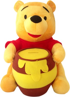 Disney Pooh with Pot plush sitting  - 27 cm
