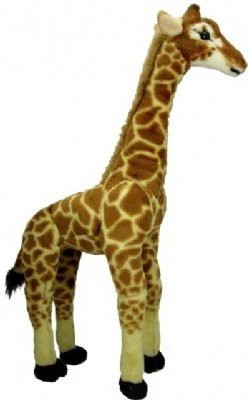 Rhode Island Novelty Large Standing Plush Giraffe  - 25 inch
