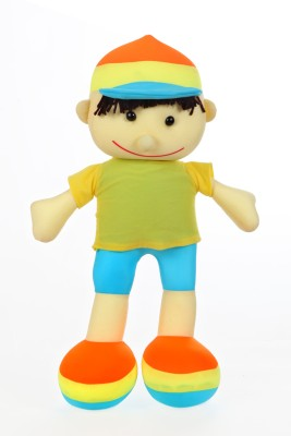 Giftwish Cute Boy Doll Multicolor Lycra Soft Stuffed Toy  - 20 inch