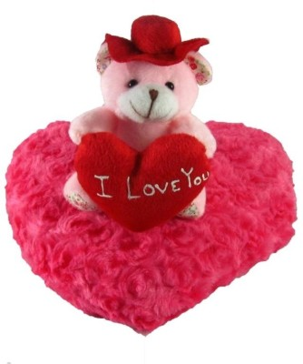 Tickles Hat Teddy On A Heart  - 21 cm