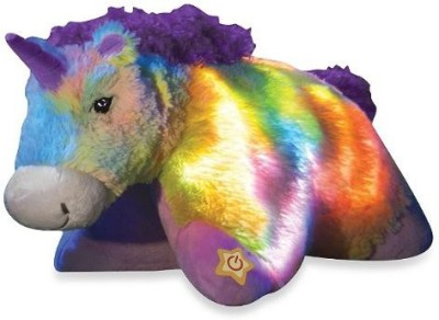 Pillow Pets Glow Pets, Rainbow Unicorn, 16 Inches  - 20 inch