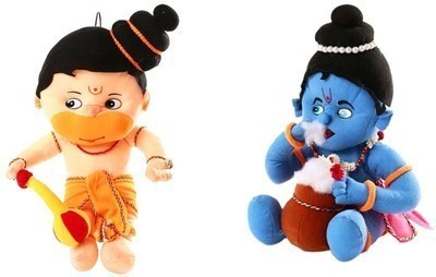 ARIP Naughty Hanuman & Krishna Combo  - 13 inch