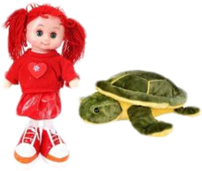 Deals India Deals India Musical Doll And Turtle Combo  - 10 cm