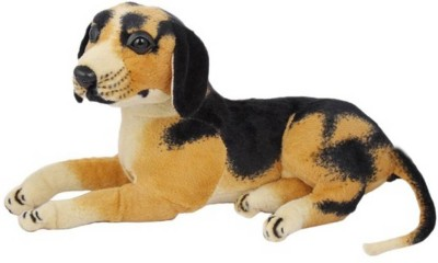 CraftSmith Soft Toy Stuffed Dog  - 32 cm(Black, White, Brown, Multicolor)