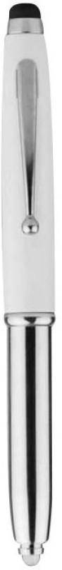 Apex Metal Pen With Stylus & Torch White Stylus(White)
