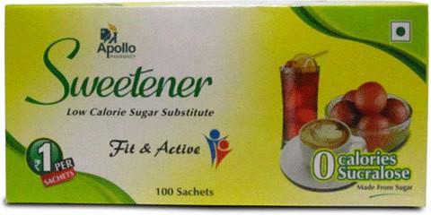 Apollo Pharmacy Sweetener 100 Sachets Sugar