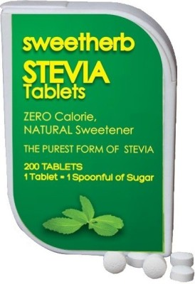sweetherb Stevia Sugarfree Tablets (ZERO Calorie, Natural, Herbal) Sugar
