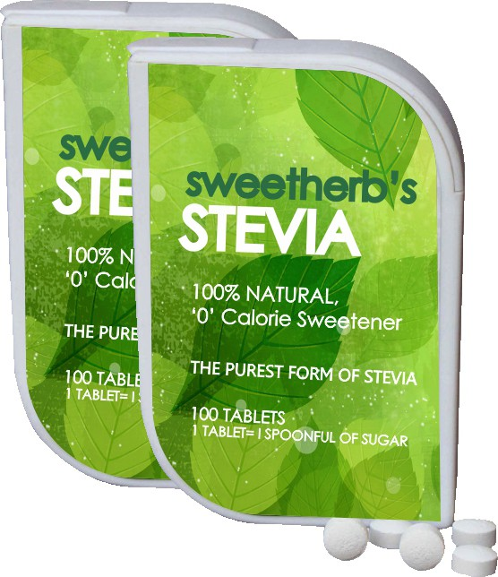 sweetherb Stevia Sugarfree Tablets (ZERO Calorie, Natural, Herbal) Sugar