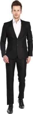 Platinum Studio Single Breasted Solid Mens Suit