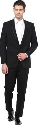 GIVO Black Fashion Solid Men's Suit