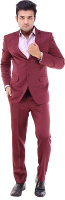 Maveric Intricate Single Breasted Solid Men's Suit