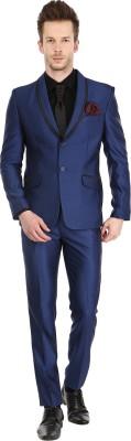 Platinum Studio Tuxedo Style Solid Men's Suit