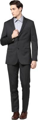 GIVO Peak Lapel Charcoal Striped Formal Striped Men's Suit