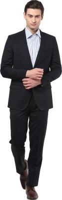 GIVO Charcoal Formal Self Design Men's Suit