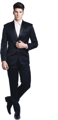 Luxurazi Tuxedo Single Breasted Solid Men's Suit
