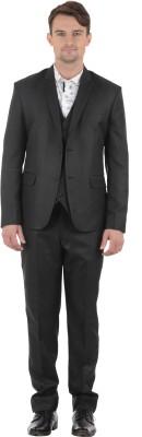 Azio Design Double Breasted Solid Men's Suit