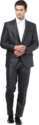 GIVO European Grey Fashion Self Design Men's Suit