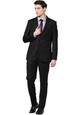 GIVO Notched Lapel Single Breasted Solid Men's Suit