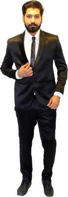 Fashion House Single Breasted Solid Men's Suit