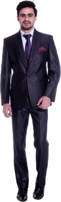 TAG 7 Single Breasted Solid Men's Suit