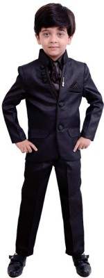 Arshia Fashions Two Buttoned Solid Boy's Suit