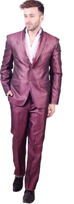Lee Marc Single Breasted Solid Men's Suit