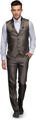 Platinum Studio Solid Mens Suit