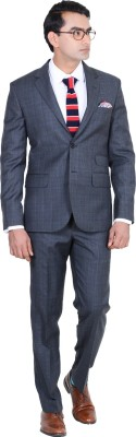 Hangrr Mayfair Plaid Single Breasted Checkered Men's Suit