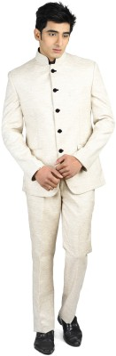 Luxurazi Premium Bandhgala Solid Men's Suit