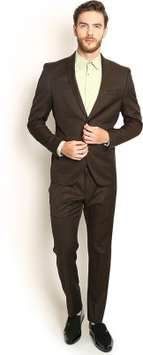 Blackberrys Single Breasted Solid Men,s Suit