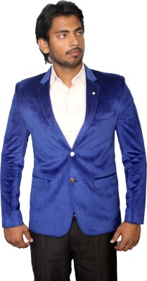 Young Fashion Single Breasted Self Design Men's Suit