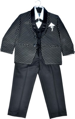 HEYBABY Coat Suit with Blaizer Polka Print Boys Suit