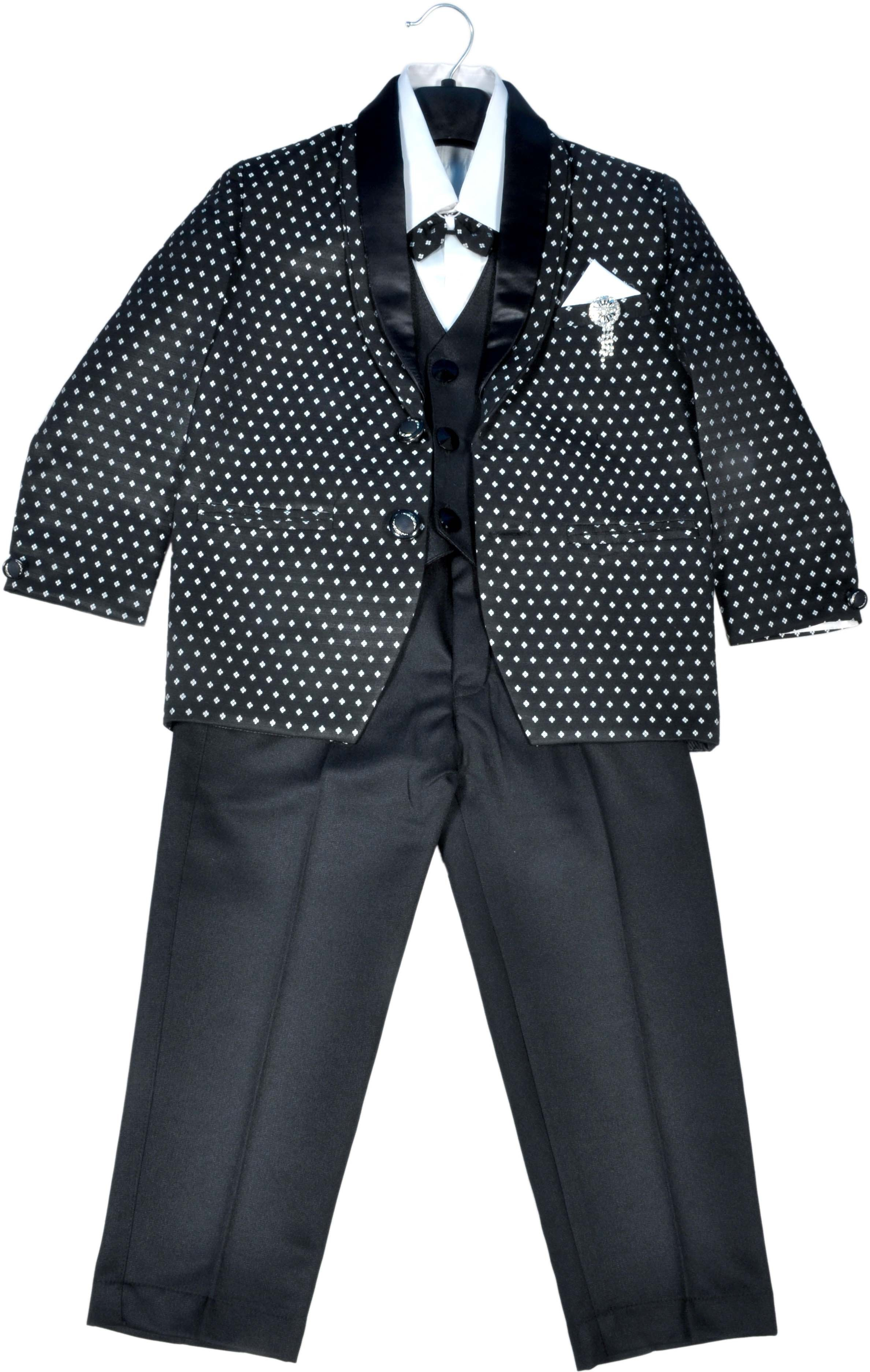 Hey Baby Coat Suit with Blaizer Polka Print Boys Suit