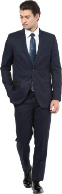 GIVO Single Breasted Solid Men's Suit
